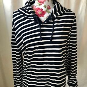 J. Crew striped jersey knit hoodie size small